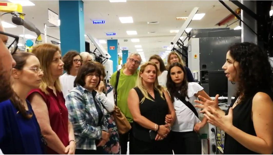 ביקור ייחודי ללקוחות לופה בחטיבת HP Indigo